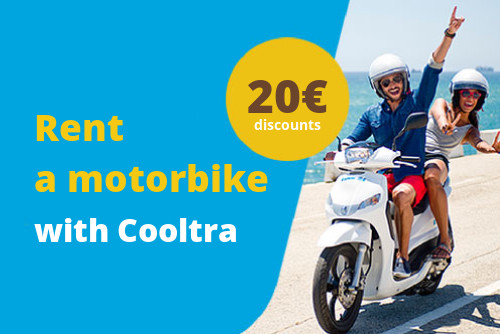 Image of Cooltra discount coupon 20€. Rent a motorbike